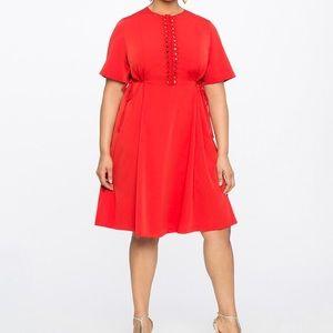 Eloquii x Missoni collab lace sides midi dress